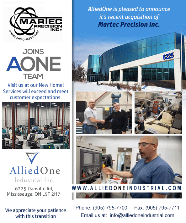 www.AlliedOneIndustrial.com The New Home of Martec Precision Inc.